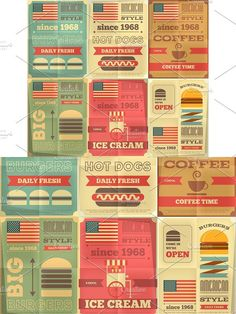 fast food posters collection #vintage