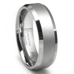 8MM Tungsten Carbide Men's Wedding Band Ring in Comfort Fit and Matte Finish Size 7-16 for only $9.99 You save: $79.01 (89%) + Free Shipping