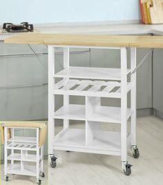 Desserte de cuisine kenza les meubles de cuisine for Meuble porte rabattable