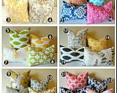 Designer Pillow Covers // 24 Prints in Your Choice of 2 Sizes