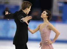 Elena Ilinykh and Nikita Katsalapov of Russia compete in the ice dance short dance figure skating competition at the Iceberg Skating Palace ...