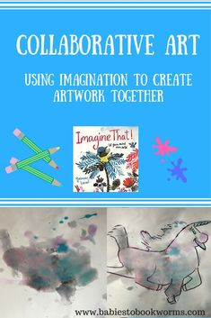 Encourage kids to use their imagination with open ended art projects and play opportunities!    Creative Play | Open Ended Art | Open Ended Play | Collaborative Art | Parent and Child Art