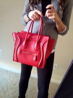 celine leather handbags - Celine Micro Bag - Navy Blue   Fashion Faves   Pinterest   Celine ...