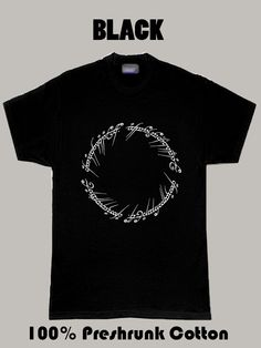 the lord of the rings one ring cool t shirt Black