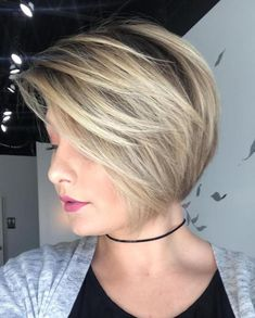 Short Side-Parted Bob For Thin Hair