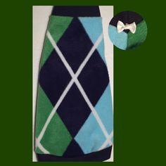 """Green and Blue Argyle Fleece """"Prepster"""" Fleece"""