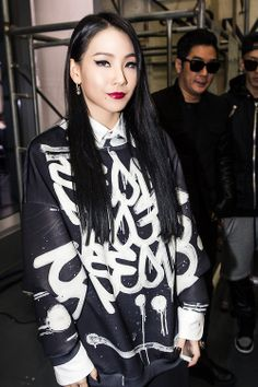 CL 2NE1 wore KYE designs to the KYE fashion show.