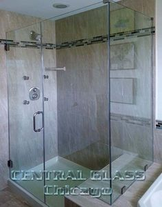Central Glass in Chicago has been providing high-end glass shower enclosures for Chicago and suburbs since 1938. Our frameless shower enclosures are manufactured from the finest tempered safety glass and will drastically transform the look of any bathroom.