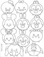 Disney tsum tsum coloring sheet