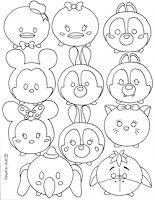 Disney tsum tsum coloring sheet