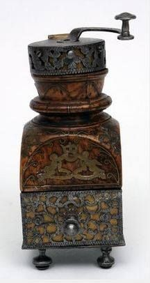 coffee mill, ca 1712, Bowes Museum, UK