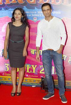Tannishtha Chatterjee and Sanjay Suri at screening of 'Guddu Rangeela'. #Bollywood #Fashion #Style #Beauty