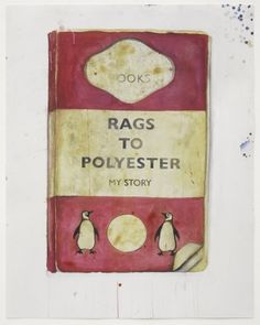 """Harland Miller, """"Rags To Polyester"""" - at White Cube"""
