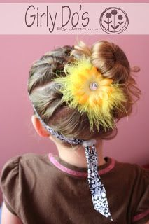 Girly Do Hairstyles: By Jenn: Side Pony Little Girl Hairstyles, Pretty Hairstyles, Wedding Hairstyles, Sock Buns, Side Pony, Nails For Kids, Hair Dos, Hair And Nails, Beauty Hacks