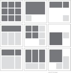 Square Grid Designs | grids organize content the nine square grid divides the page into ...
