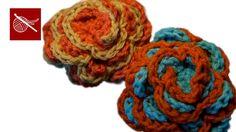 How to make a Crochet Spring Flower Rose Crochet Geek