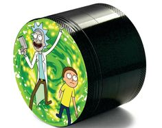 Custom Herb Weed Grinder Adventures of R&M  Inspired Best gift for him