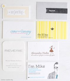 A Collection of Business Cards from the Alt Design Summit. Worth clicking to the site. They're all beautiful.