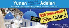 ADA'da harika fırsat !  Yunan adalarını %25 indirimli gezin...