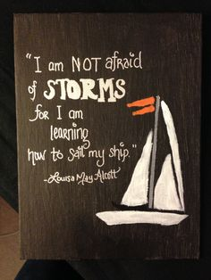 Sailboat Canvas Inspirational Painting with Quote