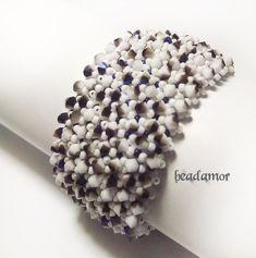 beaded bracelet Melania free shipping worldwide by Beadamor on Etsy