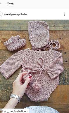 b74c3363f Las 313 mejores imágenes de peleles de punto en 2019   Baby knitting ...
