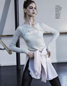 arty ballerine: clarice silva vitkauskas and jemma baines by david roemer for grazia france 30th august 2013