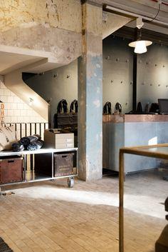 Nudie Jeans store Global Repair Station London 06 Nudie Jeans store & Global Repair Station, London #backcounter