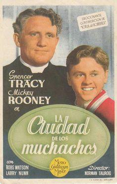 La ciudad de los muchachos. Spanish film  poster for American film, Men of Boys Town.