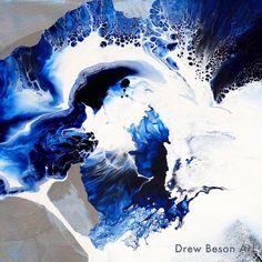 "Belitung 24""x48""  Drew Beson Art Detail shot.  www.besonart.com  #InteriorDesign #besonart"