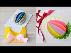 Mishellka Quick Tutorials - Easter Cards with Eggs Diy Easter Cards, New Clip, To Loose, Nature Crafts, Christmas Nails, Kids And Parenting, Handicraft, Techno, Decoupage