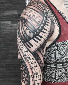 Ideas music tattoo sleeve ideas ink for 2019 Girls With Sleeve Tattoos, Girl Tattoos, Tattoos For Guys, Tattoos For Women, Tatoos, Music Tattoo Designs, Music Tattoos, Tattoo Designs For Women, Piano Tattoos