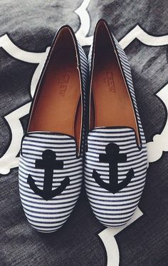 J. Crew Anchor Stripe Flats
