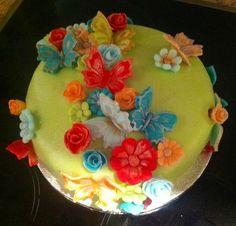 Springtime cake Celebration Cakes, Birthdays, Birthday Cake, Desserts, Christmas, Food, Shower Cakes, Tailgate Desserts, Birthday