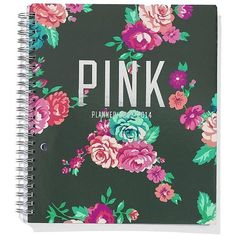Victoria's Secret PINK Student Planner (550 UYU) ❤ liked on Polyvore featuring home, home decor, stationery, fillers, accessories, school, books and random