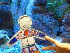 Spring Break - Flat Stanley considered sleeping with the fish.