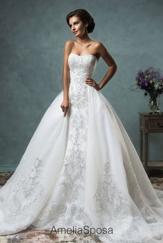 Wedding dress Celeste - AmeliaSposa - I love the way the dress separates for after the wedding ceremony