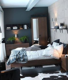 60 men 39 s bedroom ideas masculine interior design - Mens bedroom paint colors ...