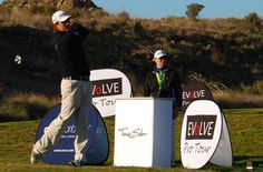 Florian Fritsch tees off in the inaugural Evolve Pro Tour event at El Valle