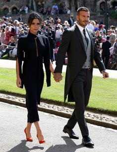 """VICTORIA BECKHAM was on hand to celebrate the royal wedding as Prince Harry and Meghan Markle became husband and wife on Saturday, but some claimed she looked """"miserable"""". The wife of David Beckham has now broken her silence on the nuptials. Victoria Beckham Outfits, David E Victoria Beckham, Style Victoria Beckham, Victoria And David, Victoria Beckham Wedding, Victoria Beckham Fashion, Meghan Markle, Vic Beckham, Looks Teen"""