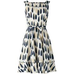 People Tree Orla Kiely Alpine Grove Flared Dress ($115) ❤ liked on Polyvore