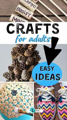 Fun and easy craft ideas you can do at home. Simple yet creative arts and crafts ideas to enjoy at home or with a group. Unique and fun DIY projects for gifts and home decor ideas. Diy Projects For Adults, Arts And Crafts For Adults, Creative Arts And Crafts, Adult Crafts, Cool Diy Projects, Diy Crafts For Home Decor, Easy Diy Crafts, Cute Crafts, Diy Crafts To Sell