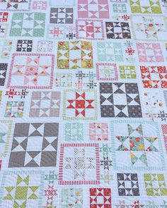 Line Dried PDF Quilt Pattern 118 Star Quilts, Scrappy Quilts, Quilt Blocks, Quilting Projects, Quilting Designs, Quilting Ideas, Sewing Projects, 123 Cross Stitch, Barn Quilt Patterns