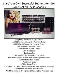 You've heard of Ground Floor Opportunity, how can you pass this up at only $99 to get in?? In less than a year, Younique became one of the top 5 Direct Sales companies.  https://www.youniqueproducts.com/jennsherrer