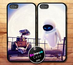 Wall E and Eve Disney Animation iPhone 5 Case Couple Hard Plastic! One for me and one for Micheal!!