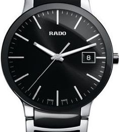 Rado-Centrix-Black-Dial-Stainless-Steel-and-Black-Ceramic-Mens-Watch-R30934162-0