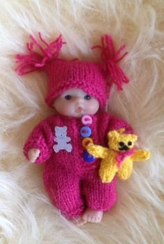 "Hand #knitted #outfit for 5"" #berenguer dolls,  View more on the LINK: 	http://www.zeppy.io/product/gb/2/331857531928/"