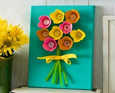 3 Kid Friendly Easter DIY Project Ideas including this egg carton craft