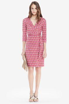 DVF New Julian Two Silk Jersey Wrap Dress