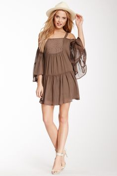 I wish i were 30 yrs. younger so i could wear this. Sooo pretty! Open Shoulder Tunic Dress